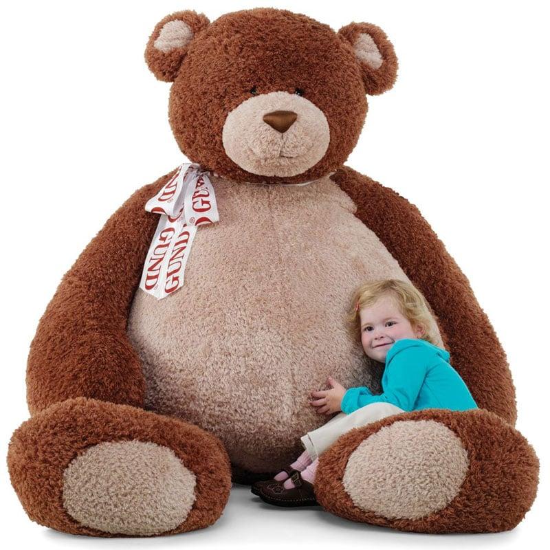 10. Own a super big teddy bear twice the size I am! Giant Stuffed Bear