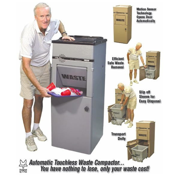Ultimate automatic touchless talking trash compactor the Garbage compactor