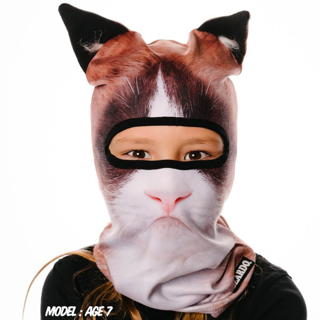 Ultra-Realistic Cat Face Ski Mask
