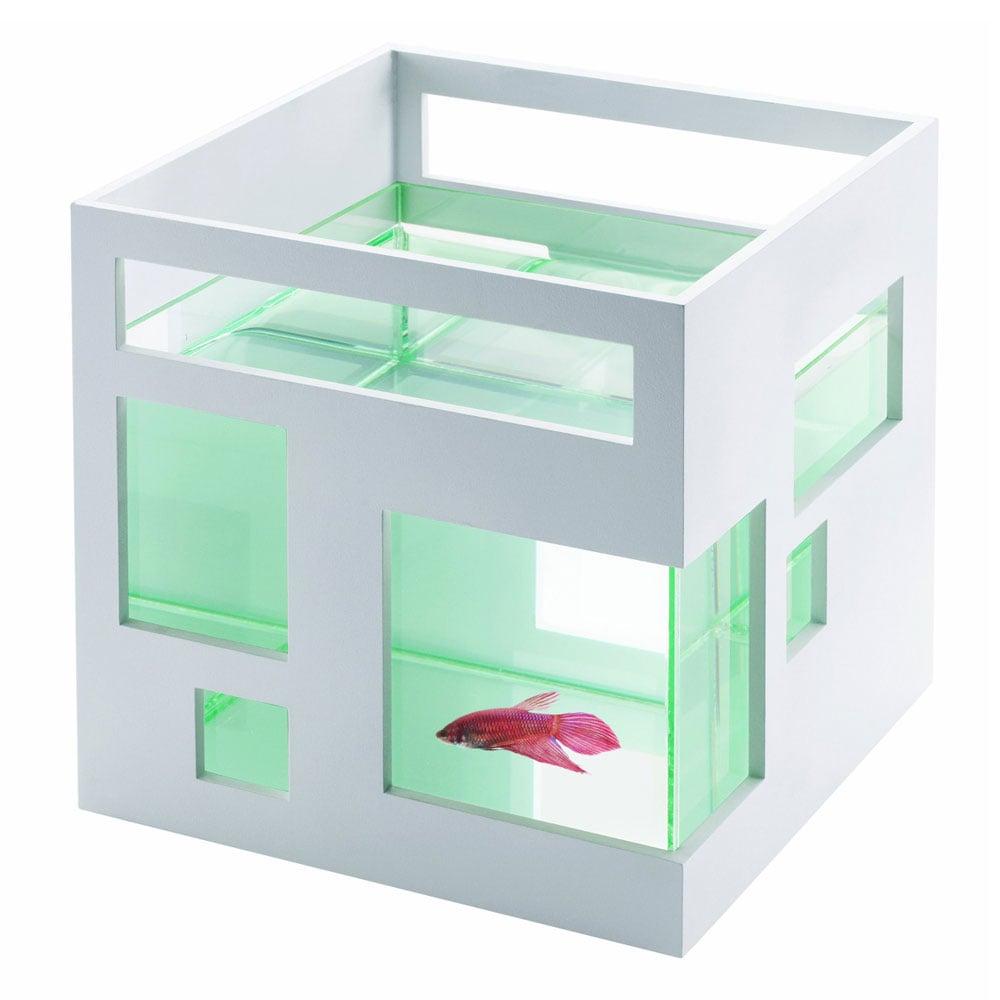 umbra fishhotel modern stackable aquarium office desk aquarium