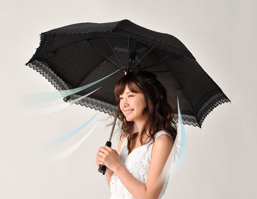 Umbrella With Built In Cooling Fan