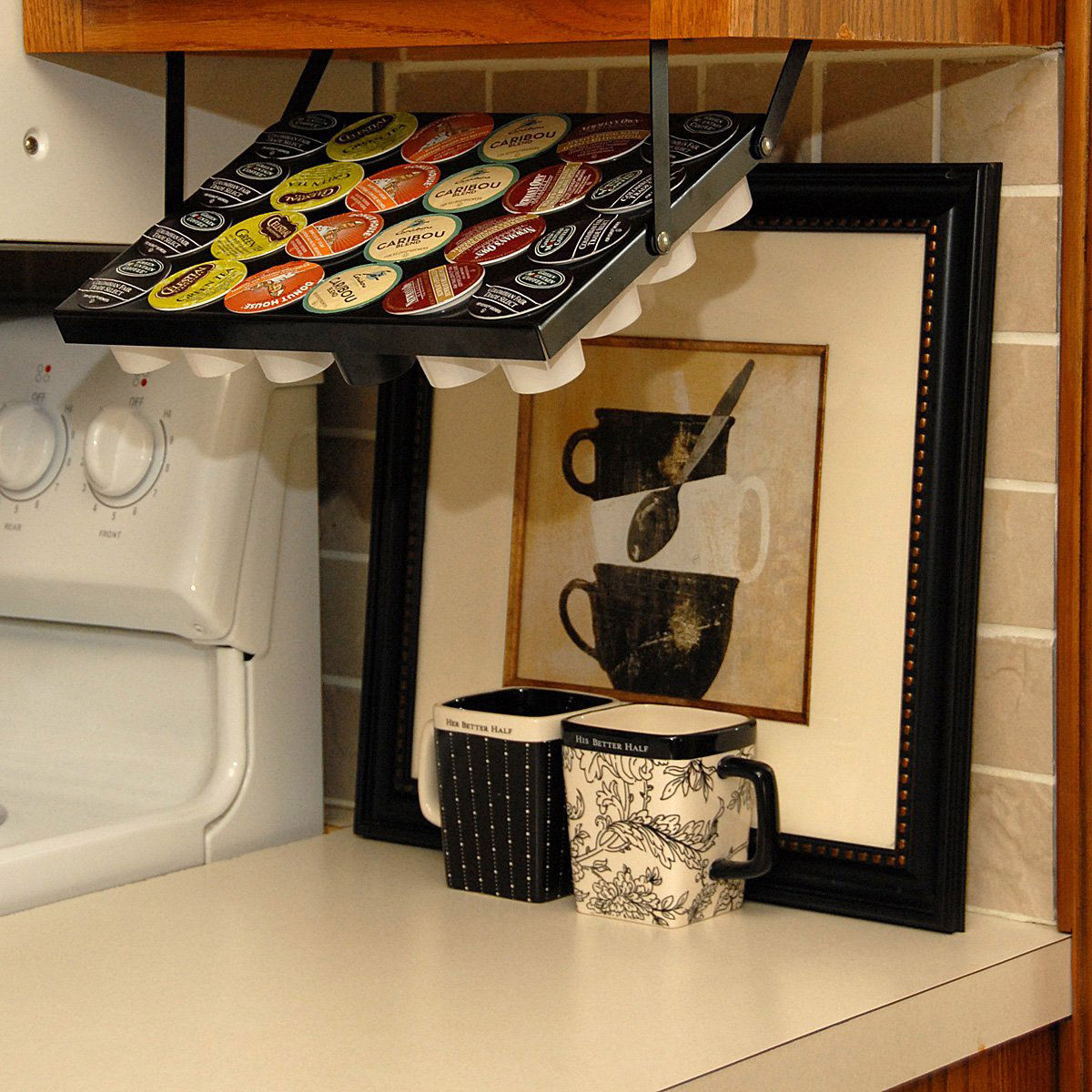 Merveilleux Under Cabinet Keurig K Cup Holder