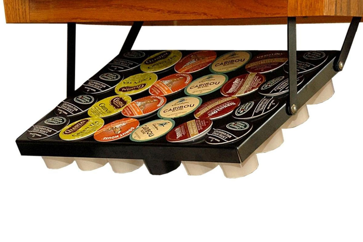 Coffee Cup Rack Under Cabinet Under Cabinet Keurig K Cup Holder The Green Head