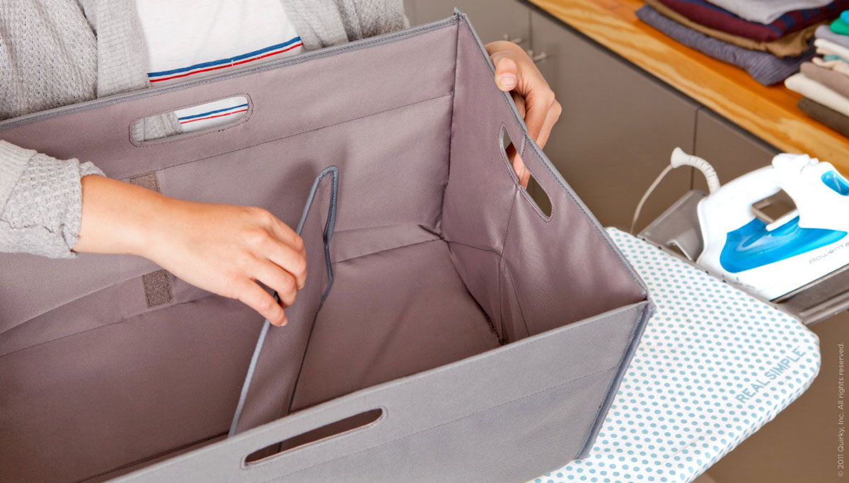Unhampered collapsible laundry basket