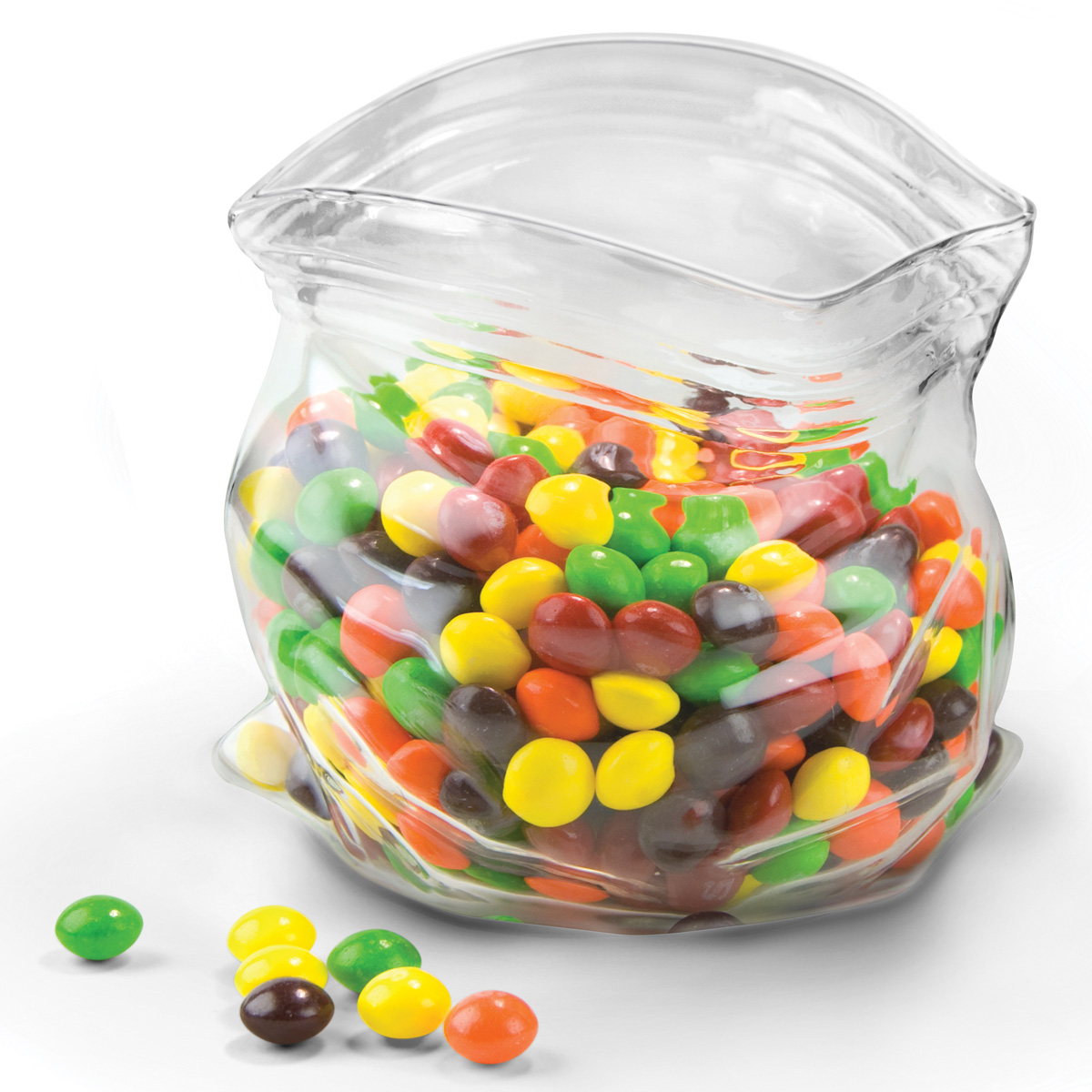 Unzipped Glass Zipper Bag Candy And Nut Bowl The Green