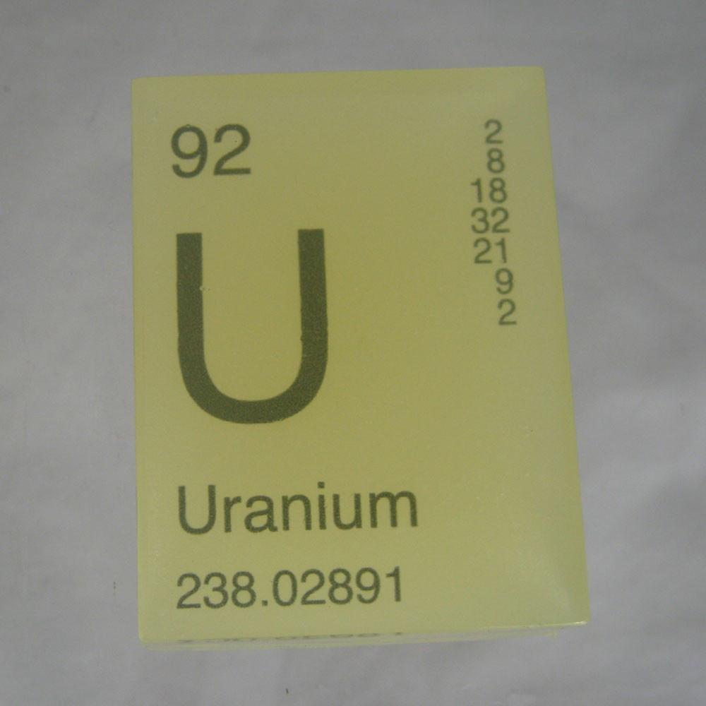Uranium Glow in the Dark Periodic Table SoapUranium Symbol Periodic Table