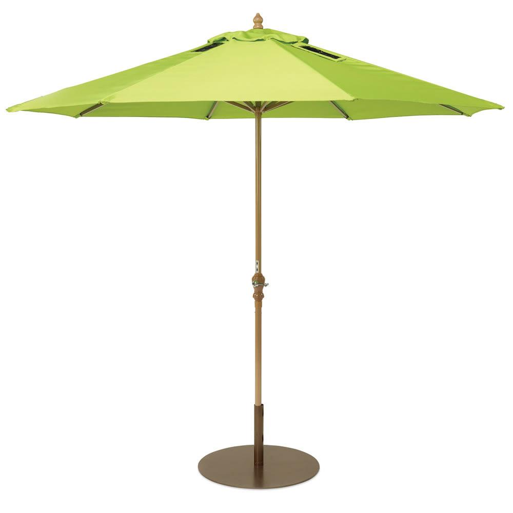 usb charging solar market umbrella the green