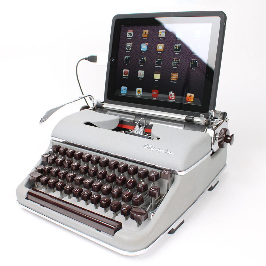 USB Typewriter Computer Keyboards - The Green Head  Typewriter