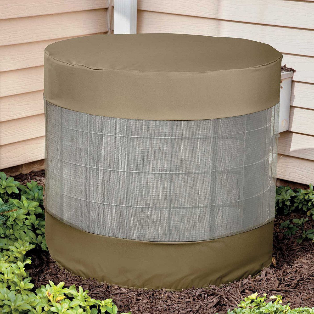 Vented air conditioner cover the green head for Air conditioning unit covers outside