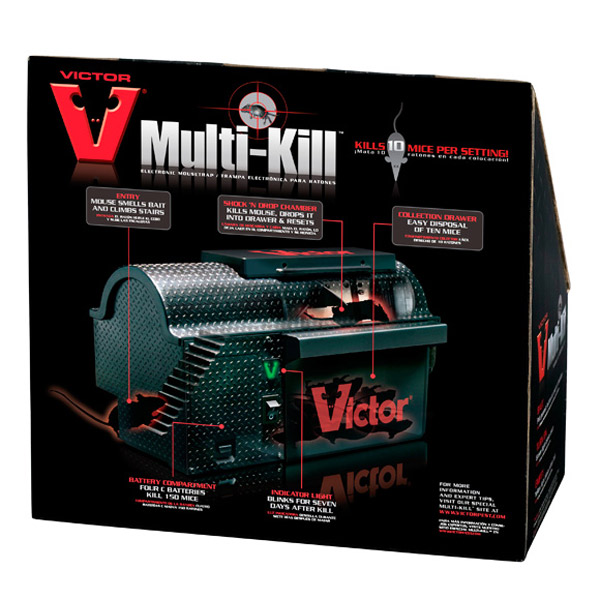 Cool Electronic Toys >> Victor Multi-Kill - Electronic Mouse Trap - The Green Head