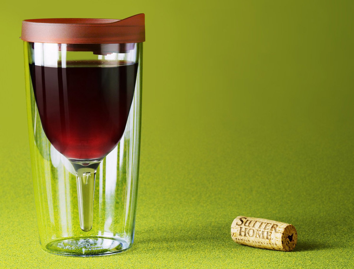 Vino go wine sippy cup the green head