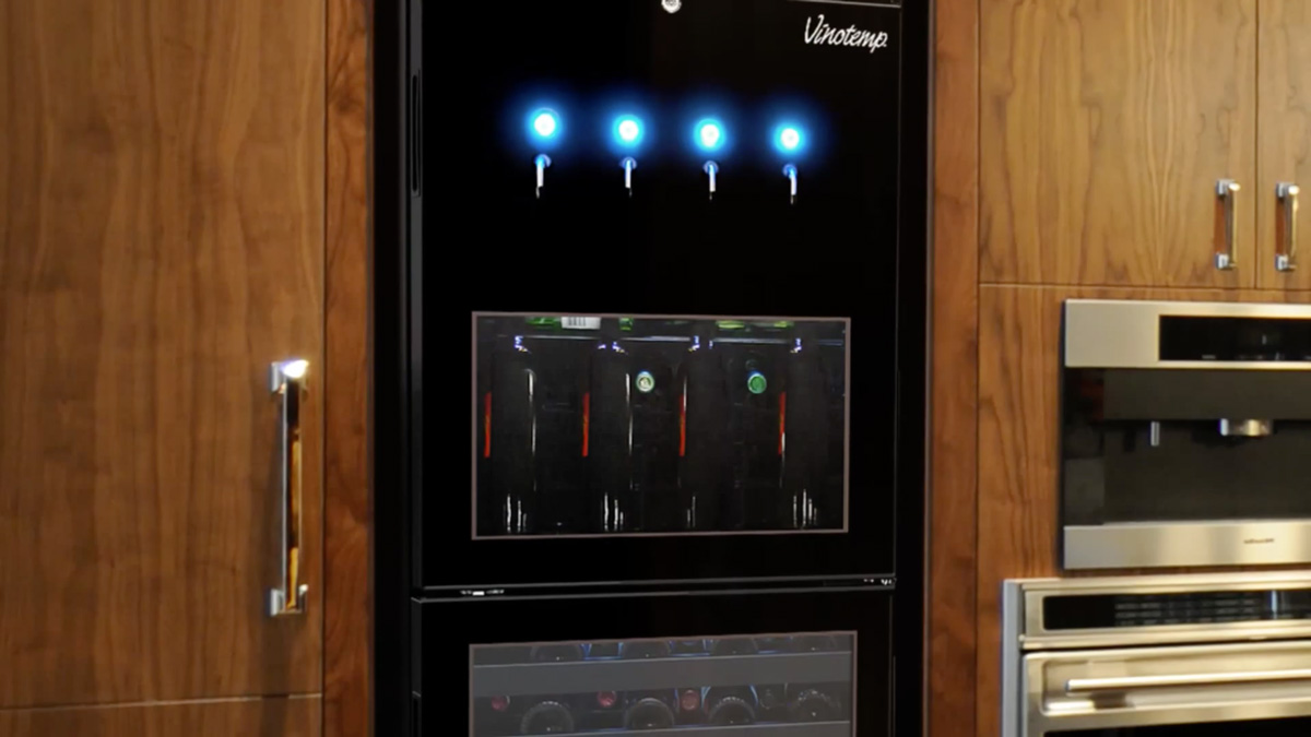 vinotemp dualzone wine bottle dispenser and cooler - Vinotemp