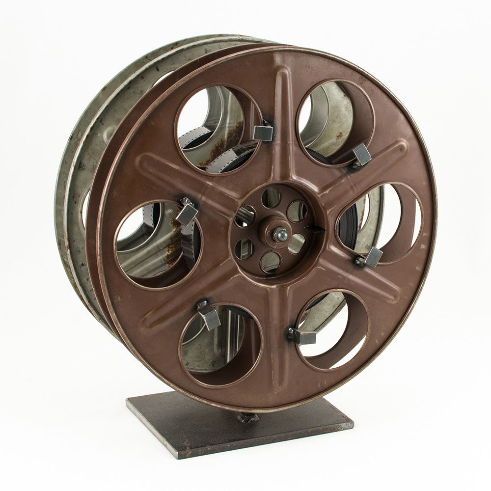 vintage film reel wine rack the green head