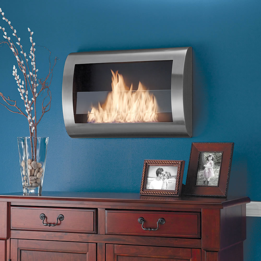 Clean Burning Wall Mounted Fireplace