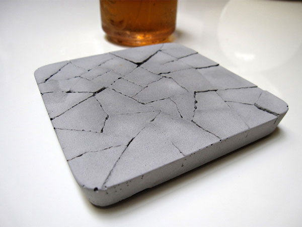 Water absorbent concrete coaster the green head for How to make concrete coasters
