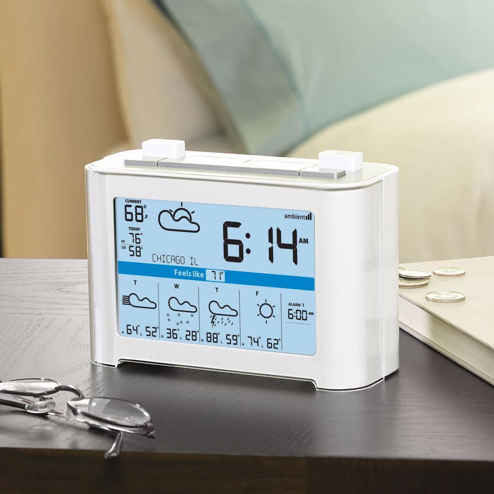 Weathercast Wireless Weather Forecaster Alarm Clock