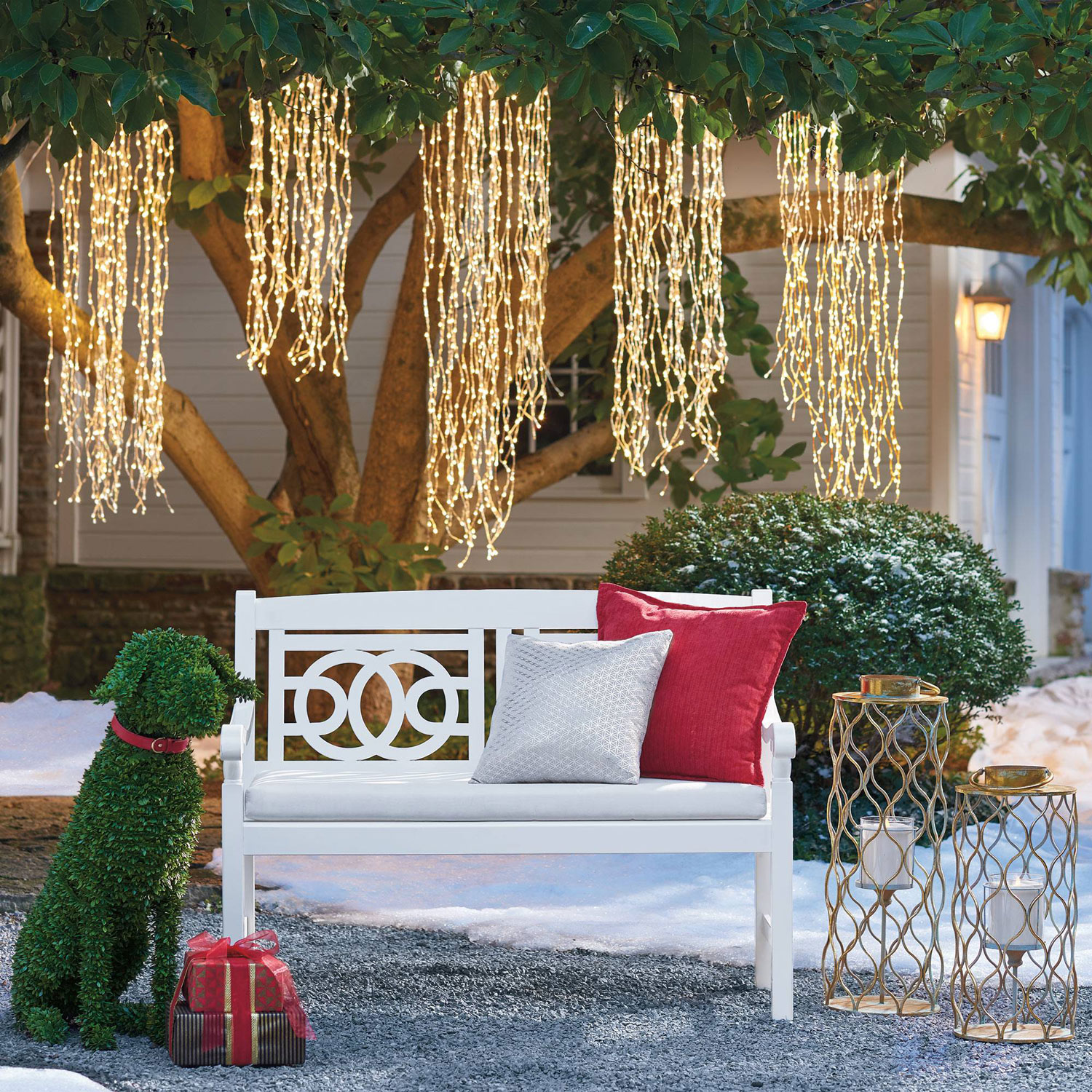 Hanging Outdoor Christmas Lights Youtube: Weeping Willow String Light Strands