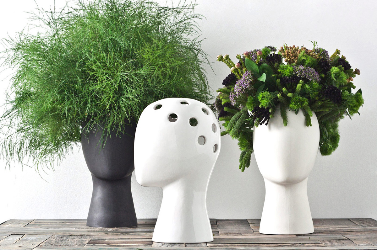 Wig Head Vase The Green Head
