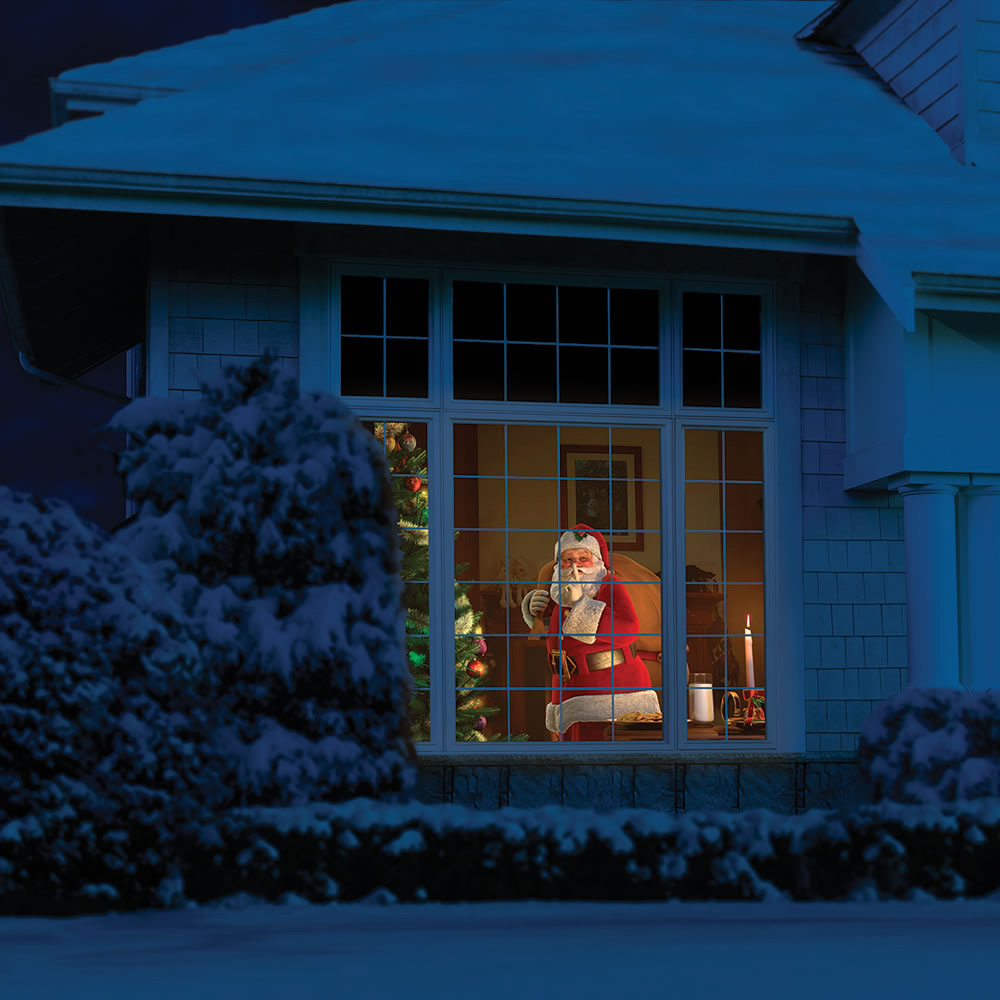 Christmas outdoor window decoration ideas - Windowfx Animated Halloween Christmas Scene Projector