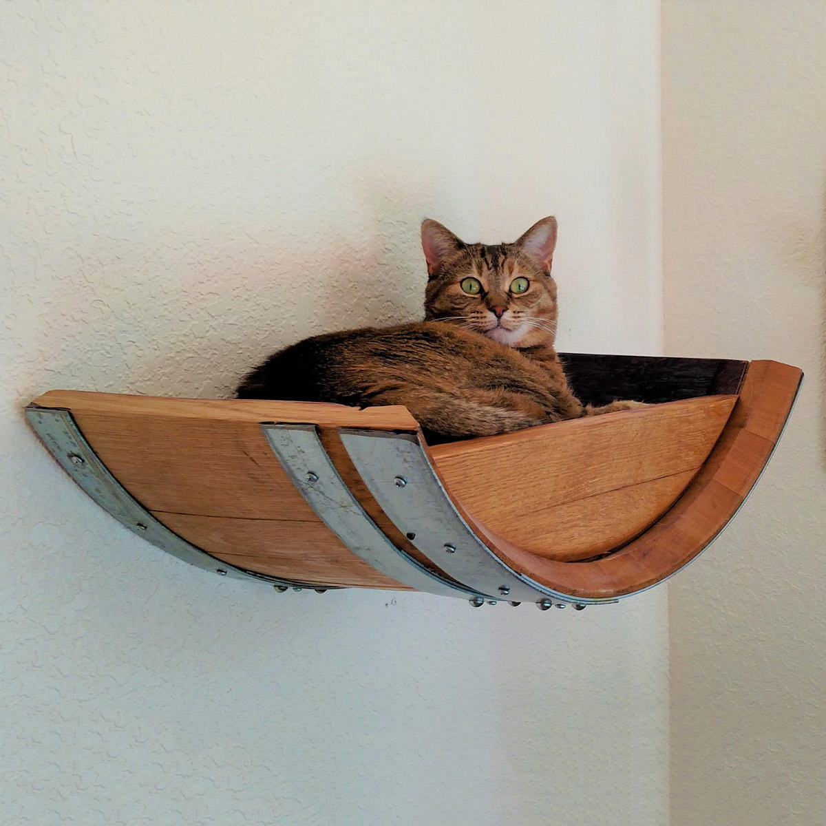 Wine Barrel Wall Hanging Cat Bed The Green Head