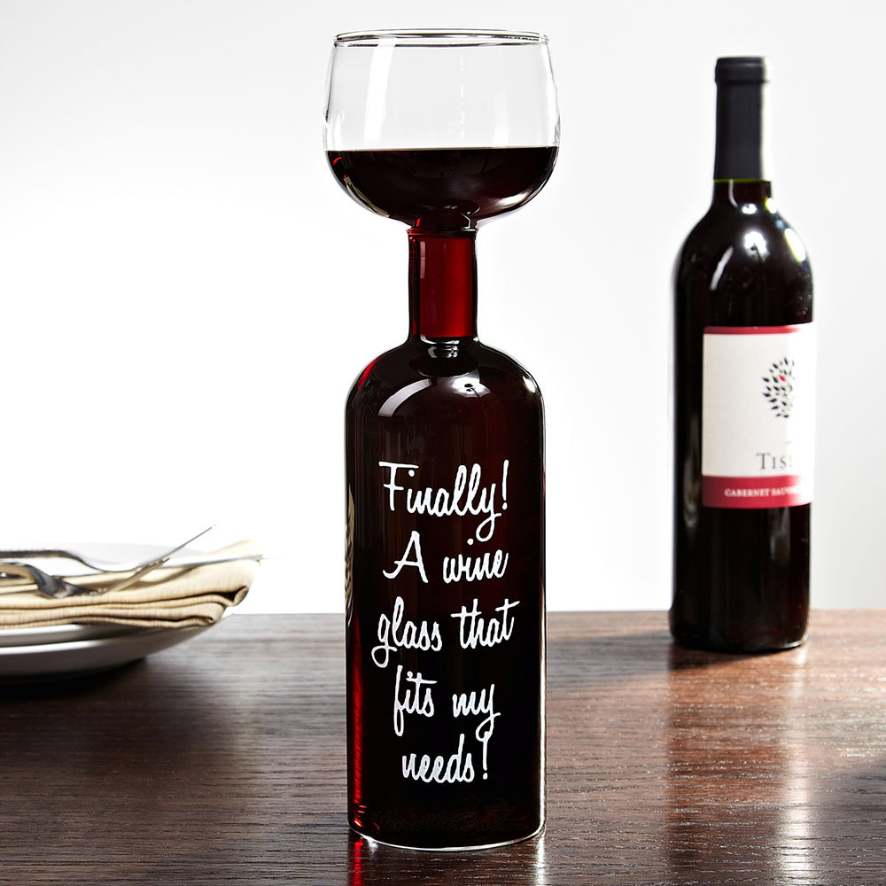 Wine bottle glass take the entire bottle with you the for What to do with a wine bottle