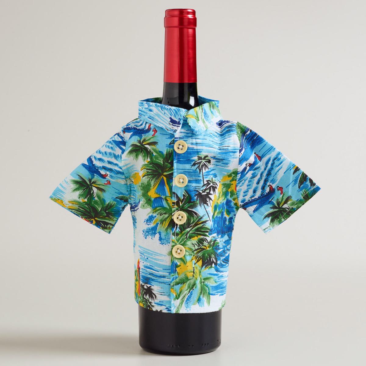 Wine Bottle Hawaiian Shirt The Green Head