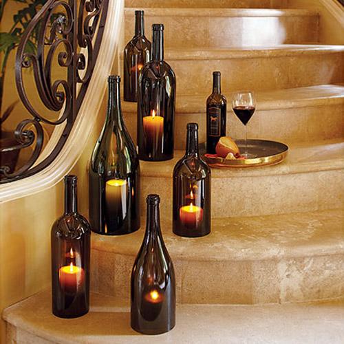 Wine Bottle Hurricane Candle Holders The Green Head