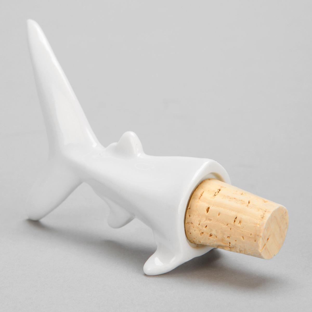 Wine Diver - Shark Bottle Stopper - The Green Head