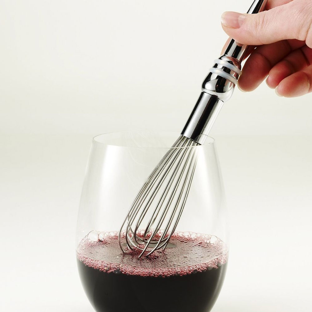 wine whisk wine aerator and bottle stopper the green head. Black Bedroom Furniture Sets. Home Design Ideas