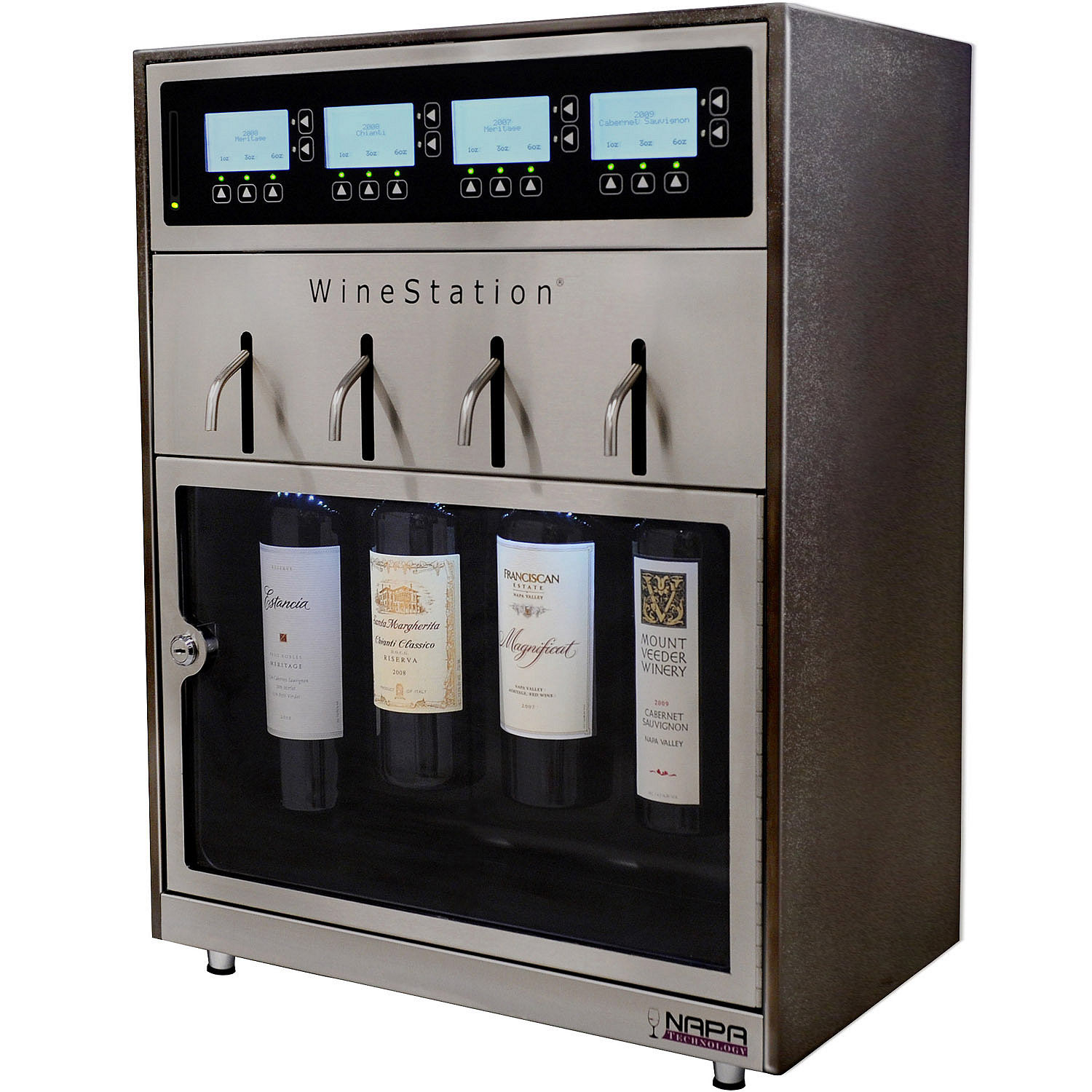 Winestation 4 Bottle Wine Dispensing And Preservation System