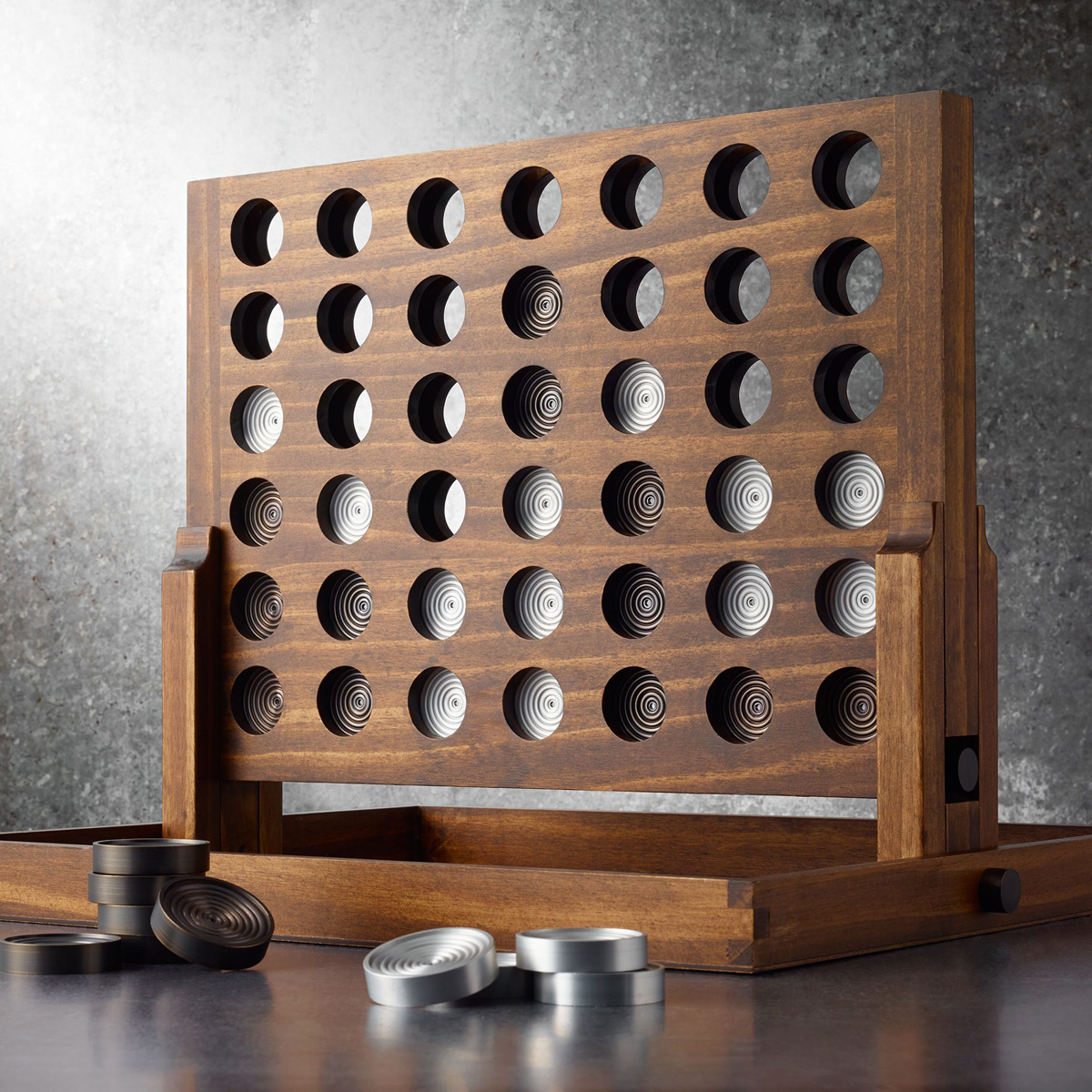 Wood And Aluminum Connect Four Game The Green Head
