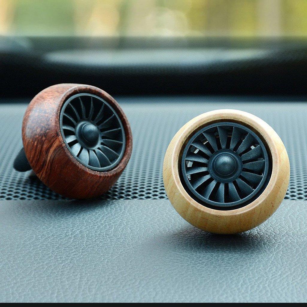 Wooden Aromatherapy Essential Oil Diffuser Car Vent Clip