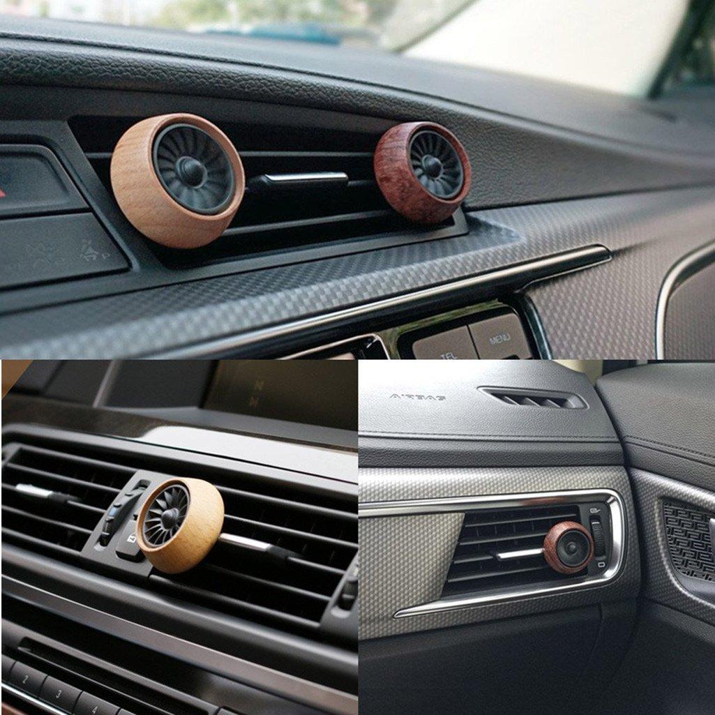 Car Aroma Diffuser ~ Wooden aromatherapy essential oil diffuser car vent clip