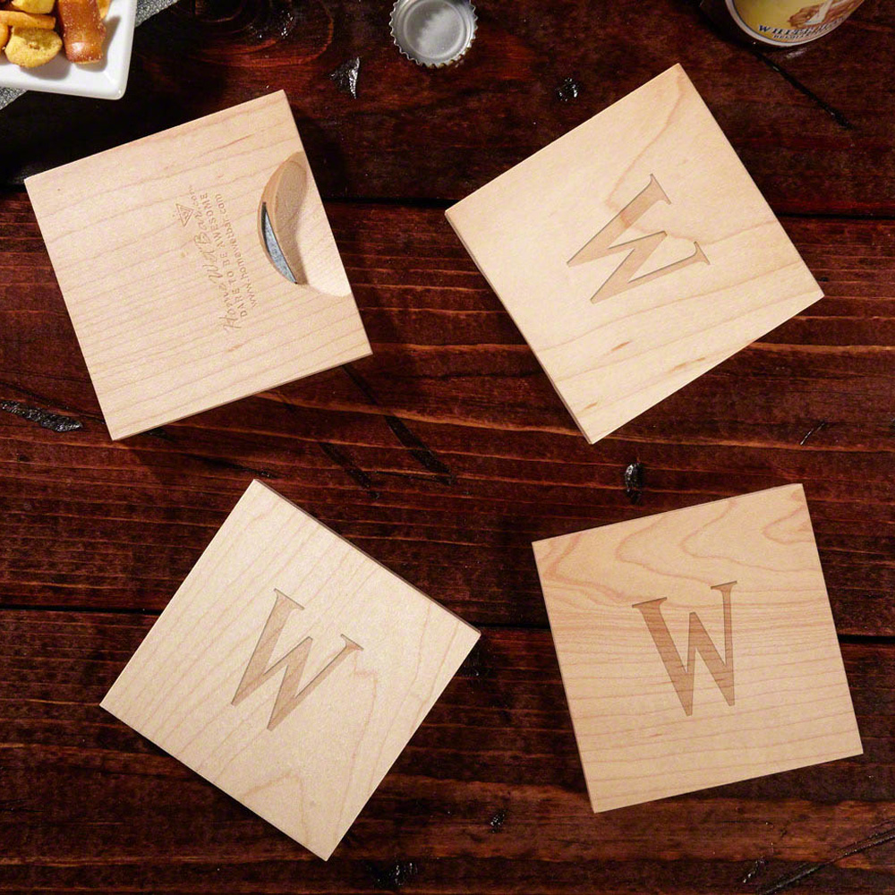 Wooden Coasters With Built In Bottle Openers The Green Head