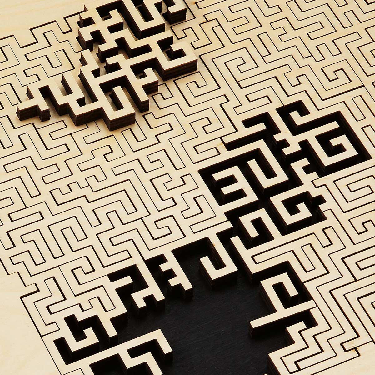 Wooden Fractal Jigsaw Puzzles