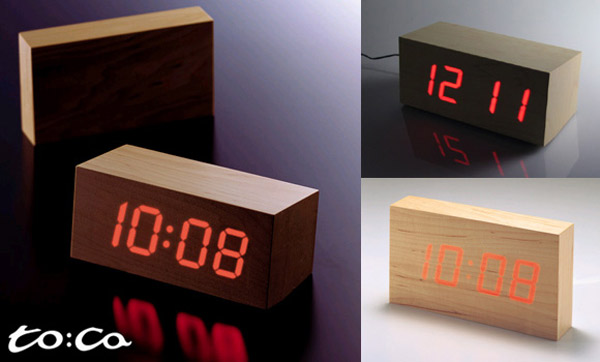 Wooden Led Clock The Green Head