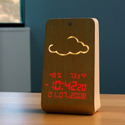 Woodstation Wooden Weather Display