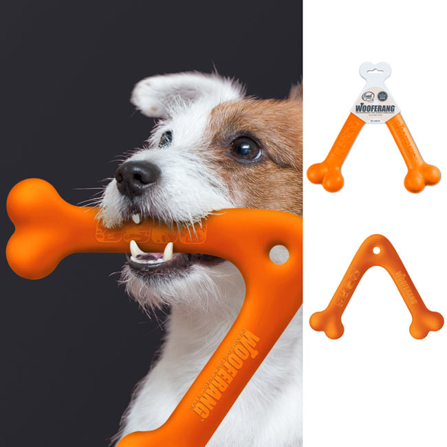 Dog Orange Throw Toy