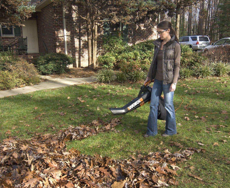 Trivac Leaf Collection System : Worx trivac blower mulcher yard vacuum with leaf