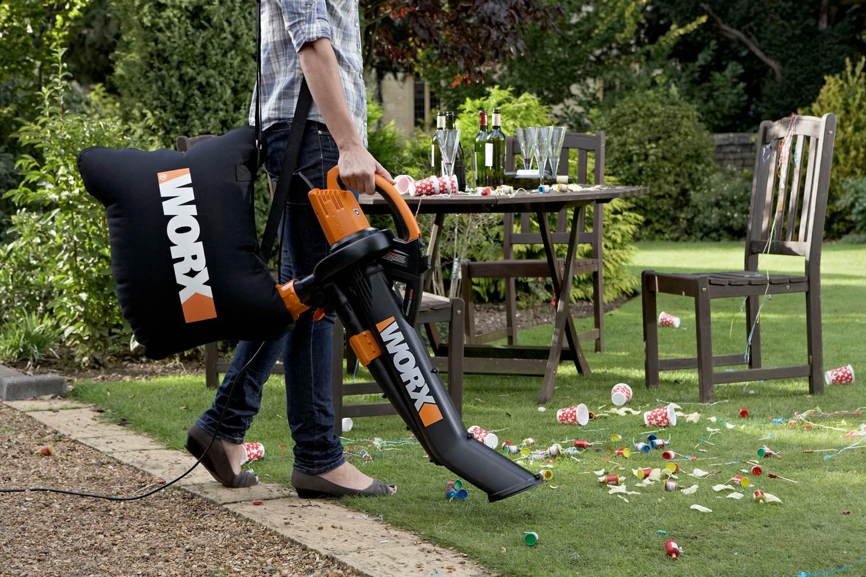 Worx Trivac Blower Mulcher Yard Vacuum With Leaf