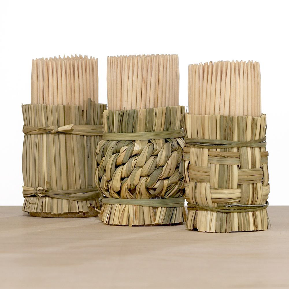 Woven Toothpick Holders The Green Head