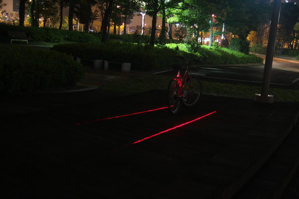 X Fire Bicycle Laser Lane Marker The Green Head