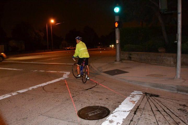 X Fire Bicycle Laser Lane Marker