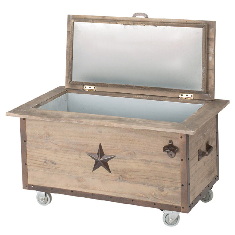 Charmant 100 Quart Rustic Beverage Cooler
