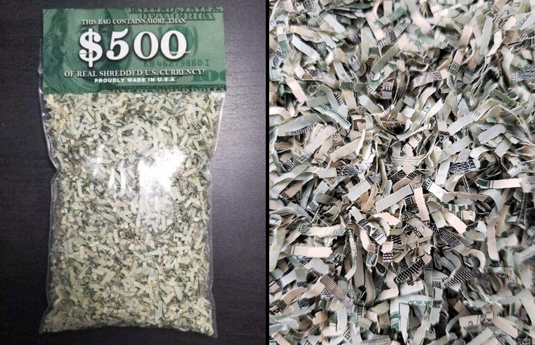 Oz bag  ~ Free  Shipping 5 100 /% Real Shredded Cash Money Currency $500.00
