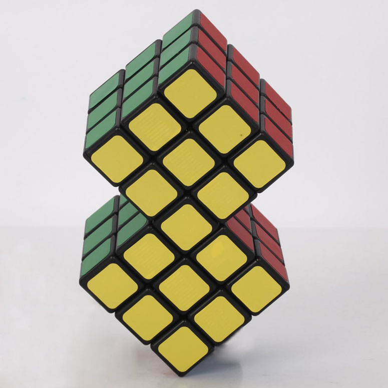2 In 1 Conjoined Rubik S Magic Cube The Green Head