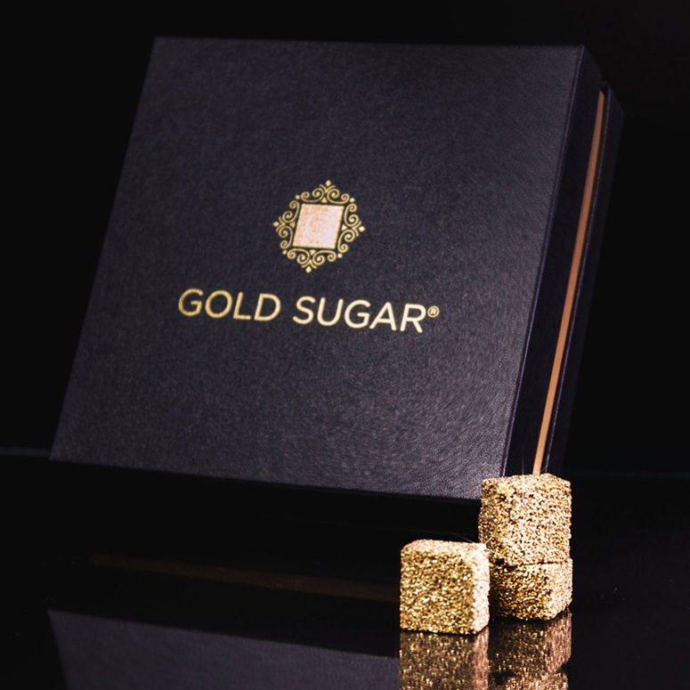 24 Carat Gold Sugar Cubes