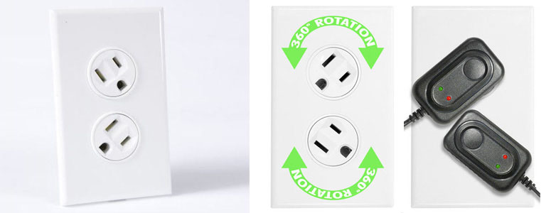 360 Degree Rotating Electrical Outlets