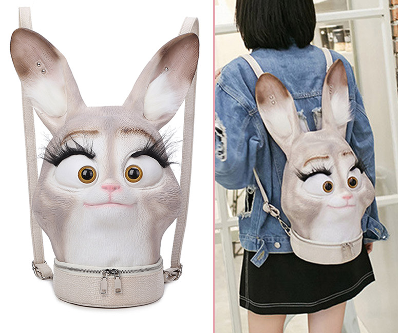 3D Bunny Head Backpack