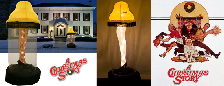 Foot Tall Inflatable Leg Lamp From A Christmas Story